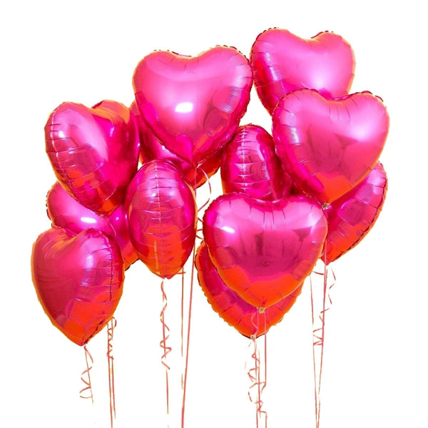 Heart Shaped Helium Balloons Set | Bridal Shower Balloons 10 Pcs/ Set - BigBeryl