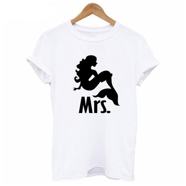 Mr and Mrs Couple T Shirts For Honeymoon - BigBeryl