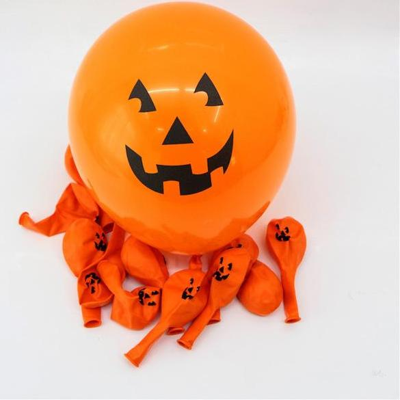 Orange Pumpkin Latex Balloons For Halloween Party Decorations 10 Pcs/Set - BigBeryl