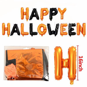 Happy Halloween Foil Letter Balloon Set - BigBeryl