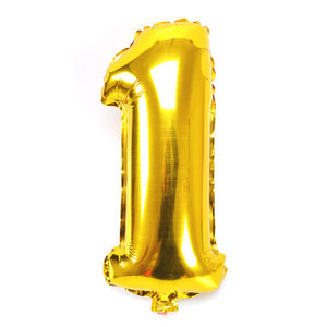 Number Foil Balloons 32 inches Gold Silver and Rose Gold - BigBeryl