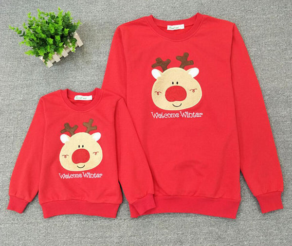 Reindeer Matching Christmas Sweaters For Family - BigBeryl