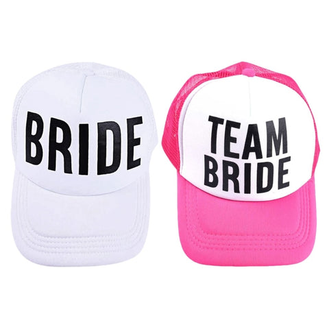 Bachelorette Party Beach Hats Pink And White [NEW] - BigBeryl