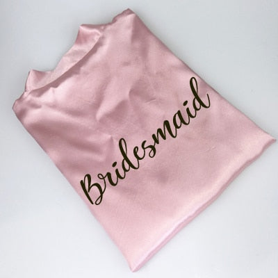 Satin Bride and Bridesmaid Robes - BigBeryl
