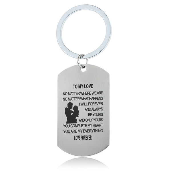 Stainless Steel Family Present Keychains - BigBeryl