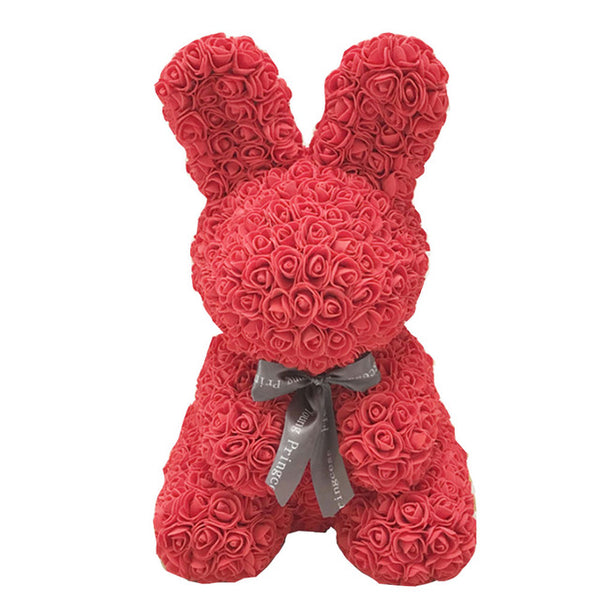 Forever Rose Flower Rabbit - BigBeryl