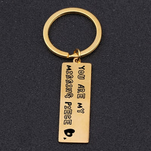 YOU'RE MY MISSING PIECE Engraved Key Chain for Couples - BigBeryl