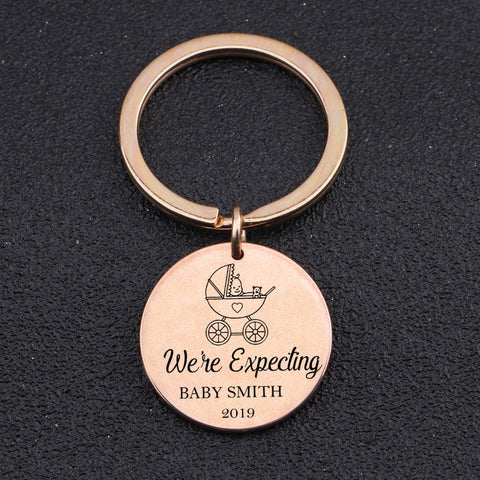 CUSTOMIZED NAME Engraved Key Chain for New Born - BigBeryl