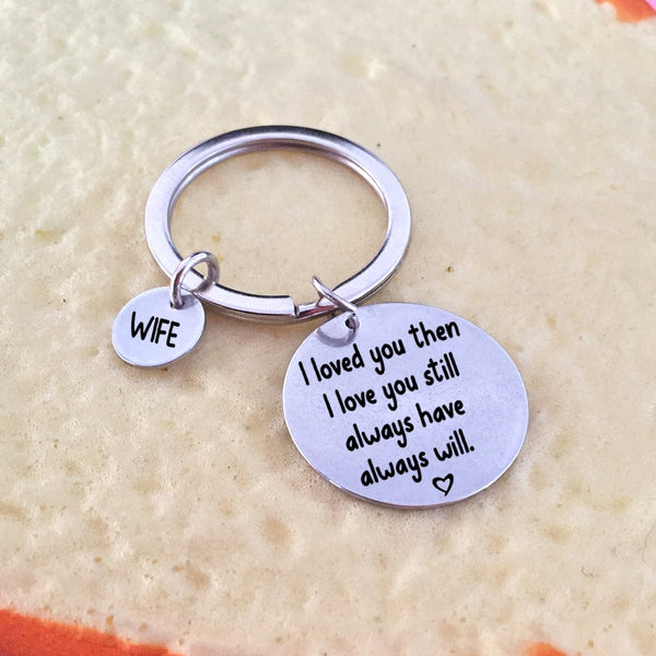 I LOVE YOU ALWAYS Engraved Key Chain for Couples - BigBeryl