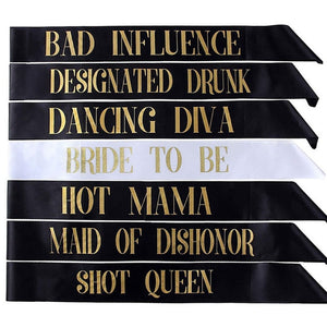 Bride to Be Sash Wedding Bachelorette Party - 7 PCs/lot - BigBeryl