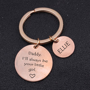 Custom Name Engraved Keychains For Dad From Daughter - BigBeryl