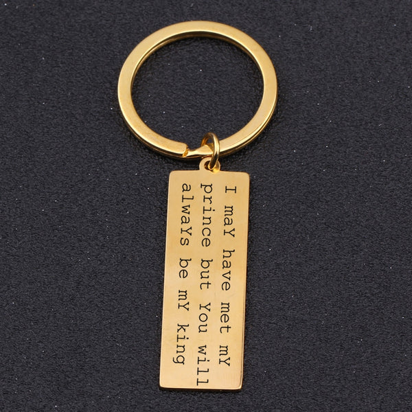 YOU WILL BE MY KING Engraved Key Chain - BigBeryl