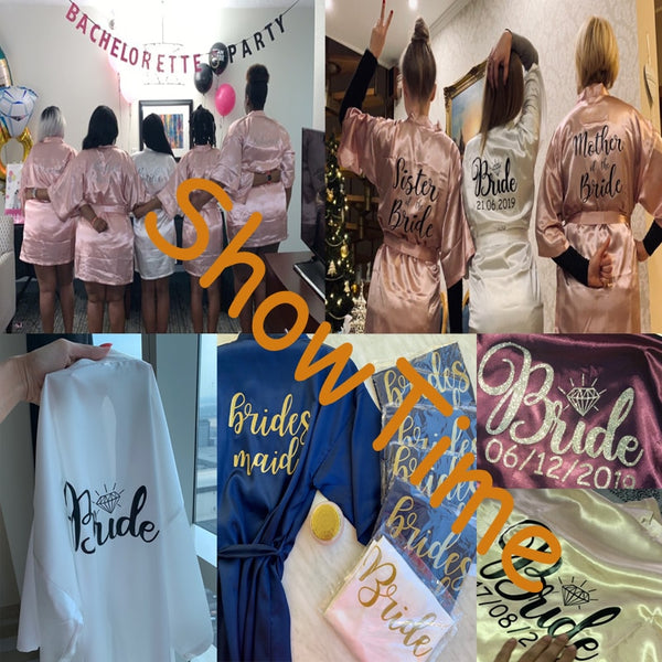 Personalized Bridal Party Robes - BigBeryl