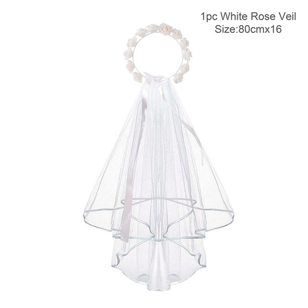 Bride To Be Sash Tiara Veil Badge And Garter - BigBeryl