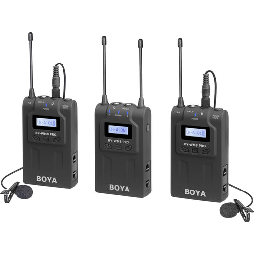 BOYA BY-WM8 Pro-K2 UHF Dual-Channel Wireless Lavalier System