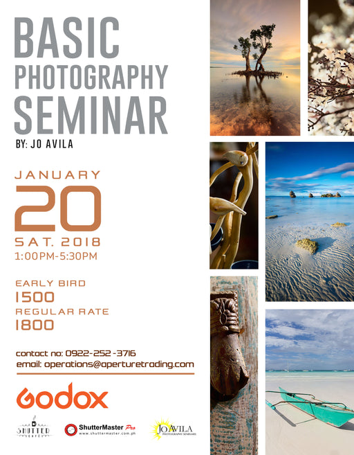 Basic Photography Seminar By: Jo Avila