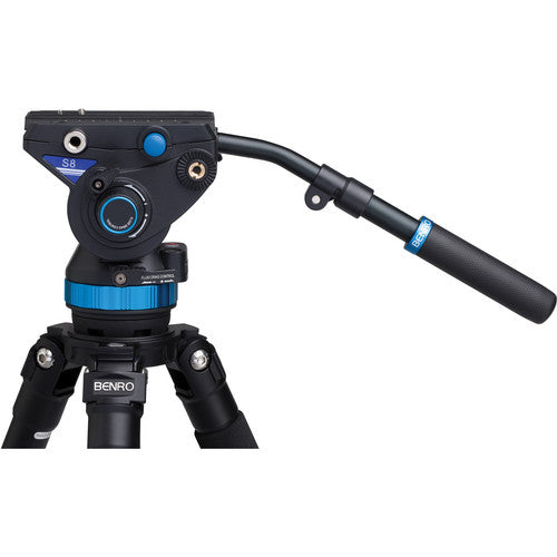 "Benro S8 Pro Video Head with Flat Base (3/8""-16 Connection)"