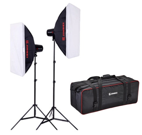 Jinbei DII-250 Flash Studio Strobe Package 2 Heads Kit