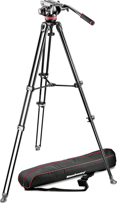 Manfrotto MAMVK502AM-1 (MVK502AM) Fluid Head and MVT502AM Tripod with Carrying Bag