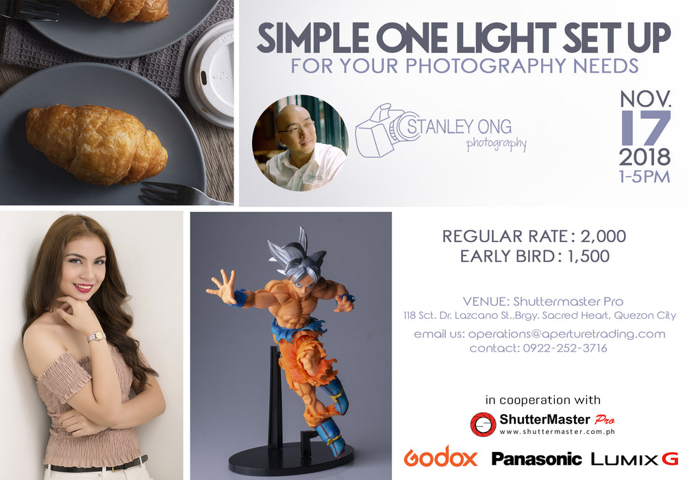 Simple One Light Set Up for your Photography needs with Stanley Ong