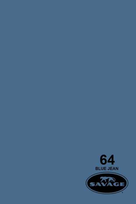 Savage Widetone Seamless Background Paper (#64 Blue Jean, 9ft x 36ft)