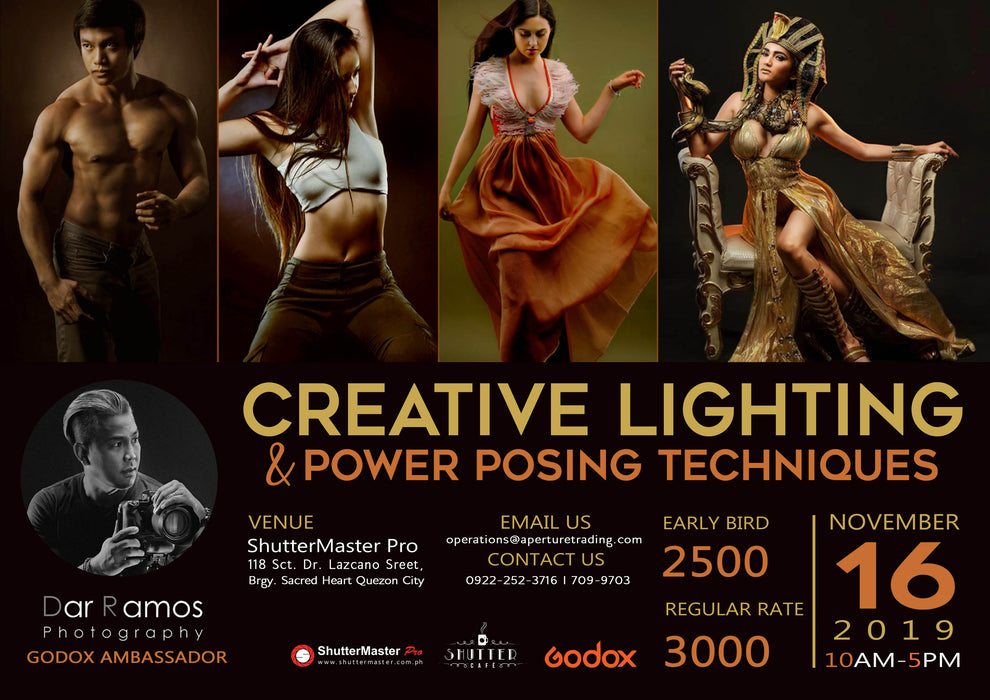 Creative Lighting and Power Posing Techniques by Dar Ramos