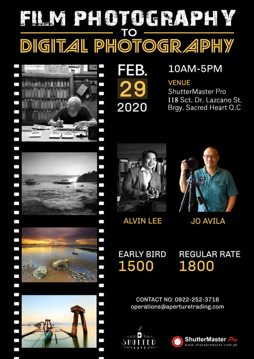 Film Photography to Digital Photography with Alvin Lee & Jo Avila