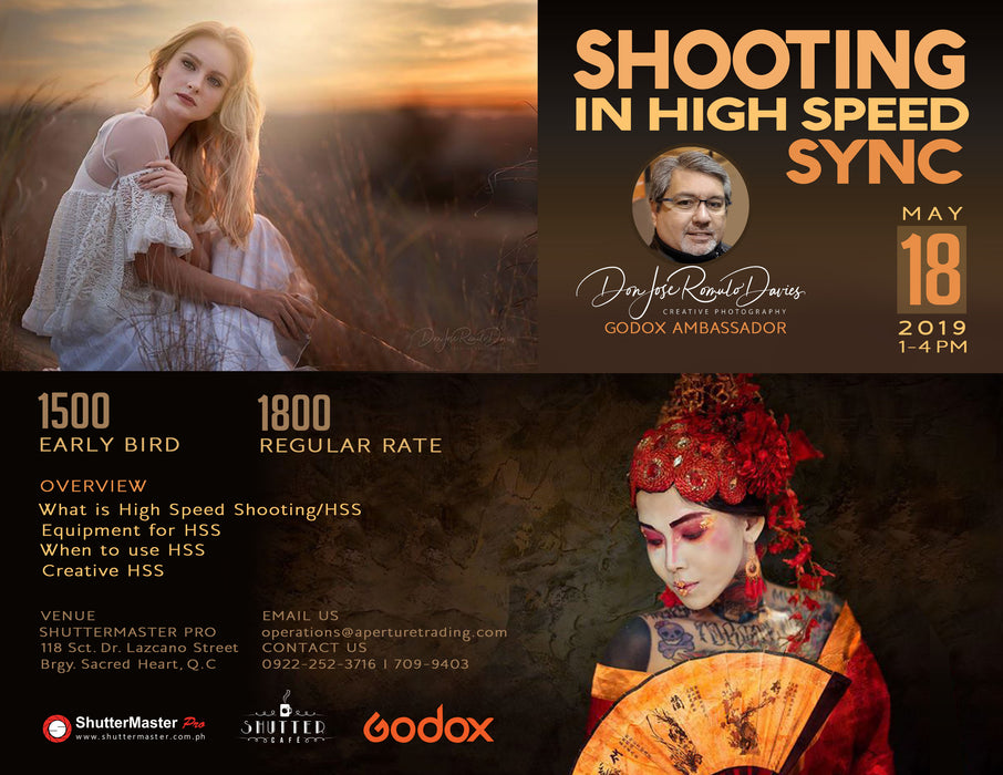 Shooting in High Speed Sync Seminar by Don Davies