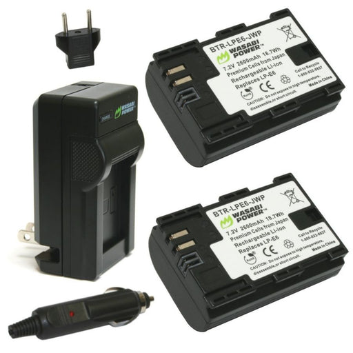 Wasabi Power Battery Canon LP-E6 Battery Kit