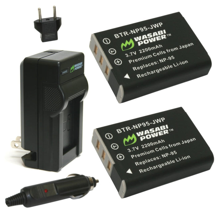 Wasabi Power Battery Fujifilm NP-95 Battery Kit
