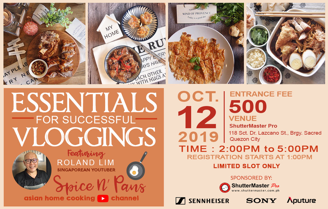 ESSENTIALS FOR SUCCESSFUL VLOGGINGS FEATURING ROLAND LIM