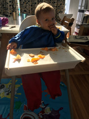 Baby eating frame On meal planning organisation