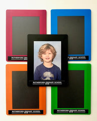 Magnetic Photograph Frames for School Photographs 5 colours