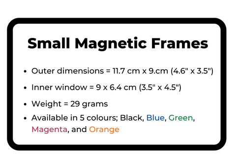 Small Magnetic Frame sizing guide