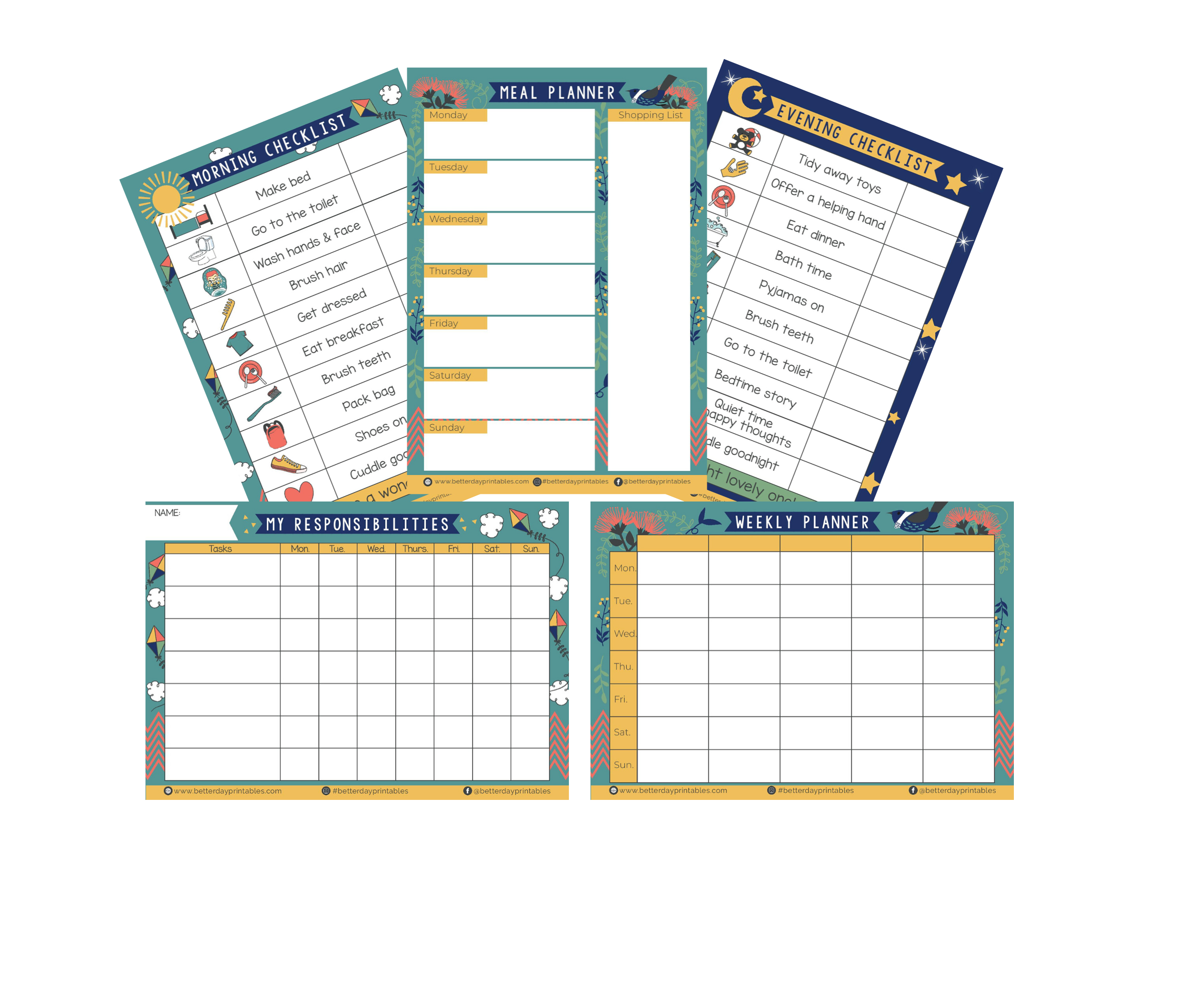 Family Organisation pack - downloadable files