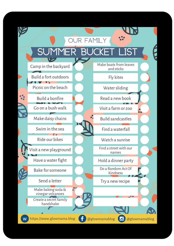 Holiday bucket list - from Glowmama