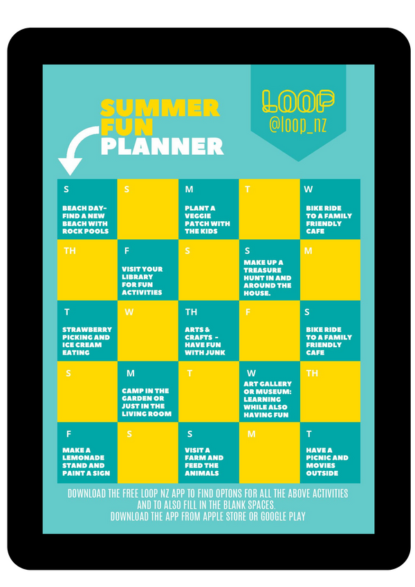 Summer Fun Planner - from LOOP NZ