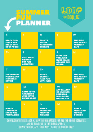 Open image in slideshow, Summer Fun Planner - from LOOP NZ