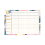 Customizable Weekly Planner - Pink and Gold Design