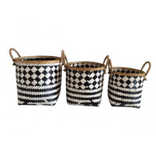 Woven Baskets with Rope Handles
