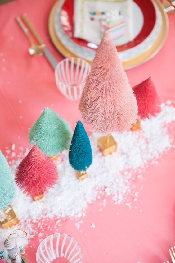 Close Up of Pink Christmas Decor