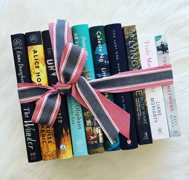 books tied up with a ribbon