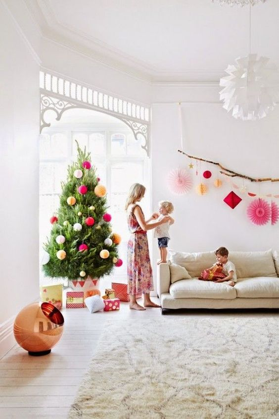 Modern Christmas Decor In Living Room