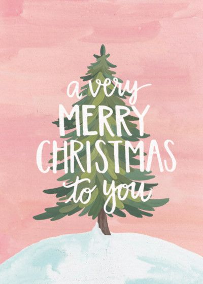 Merry Christmas To You Illustration