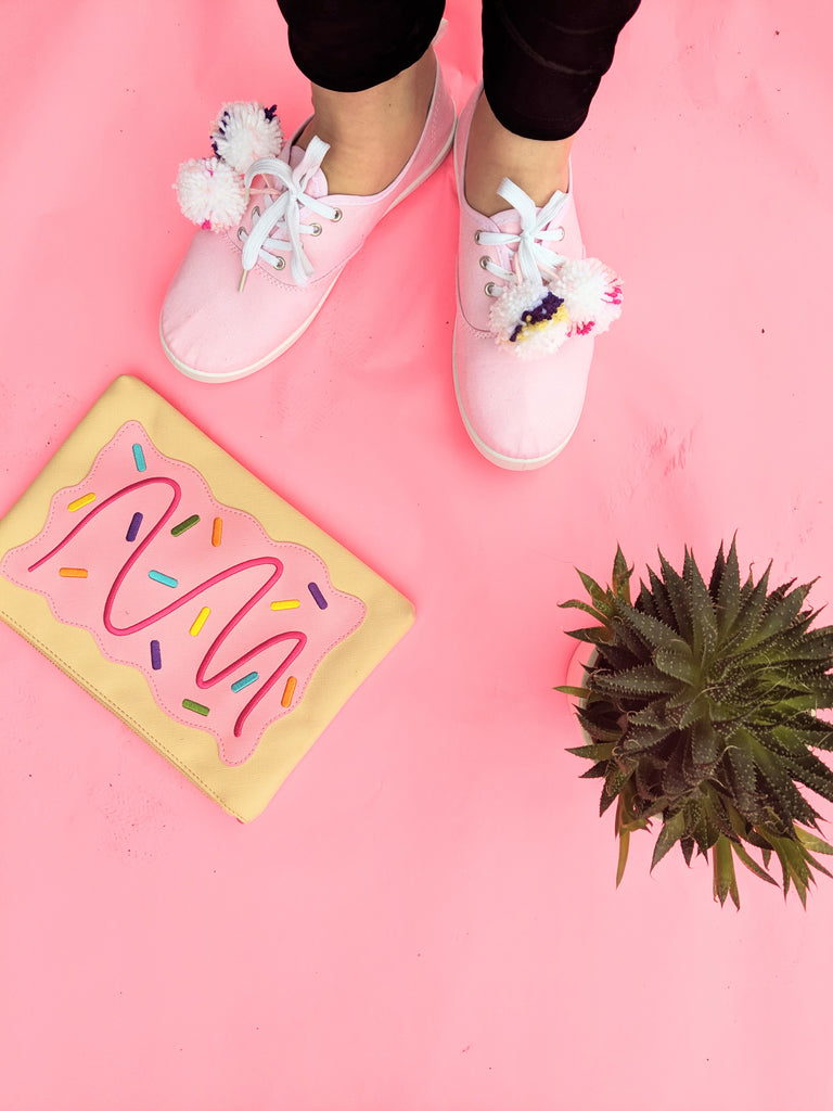 Pink Pom Pom Shoes- Wearing Them