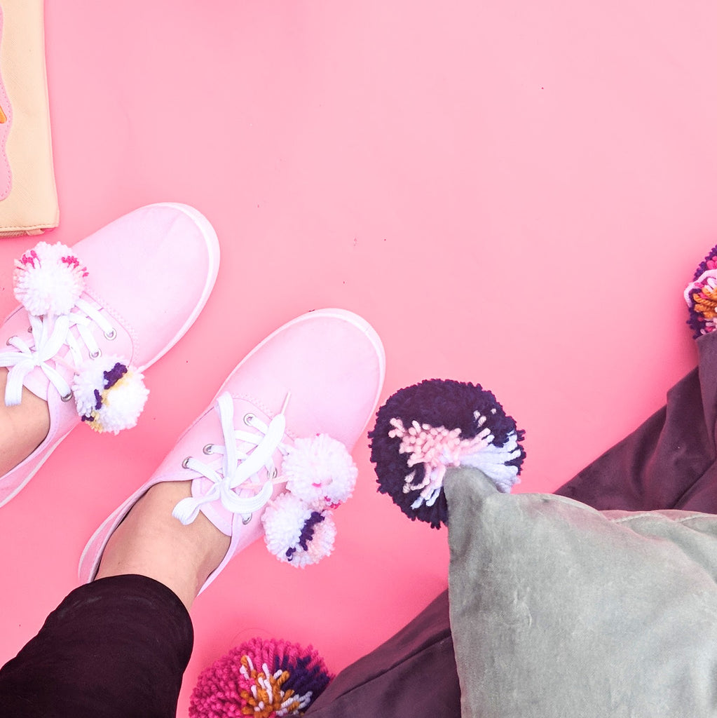 Styled Pom Pom Shoes