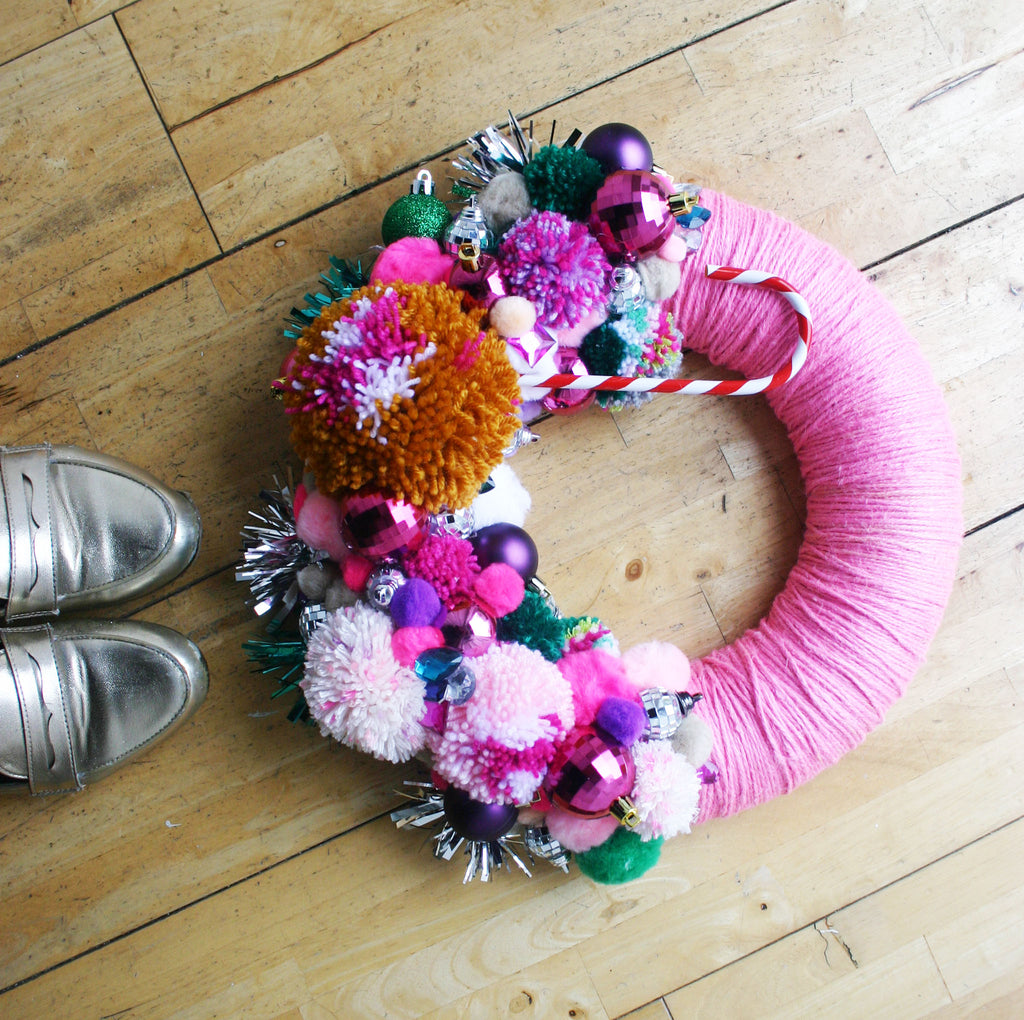 Pom Pom Wreath Photoshoot