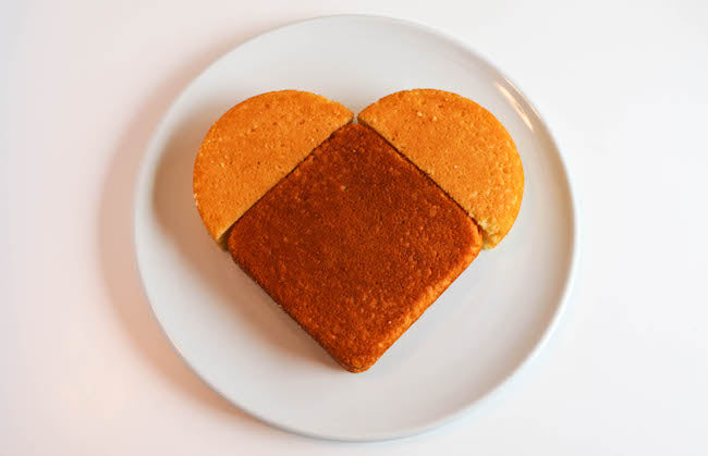DIY Heart Shape Cake for The Fuzzy Bee Blog