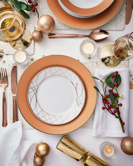 Dinner Plate Setting for Thanksgiving