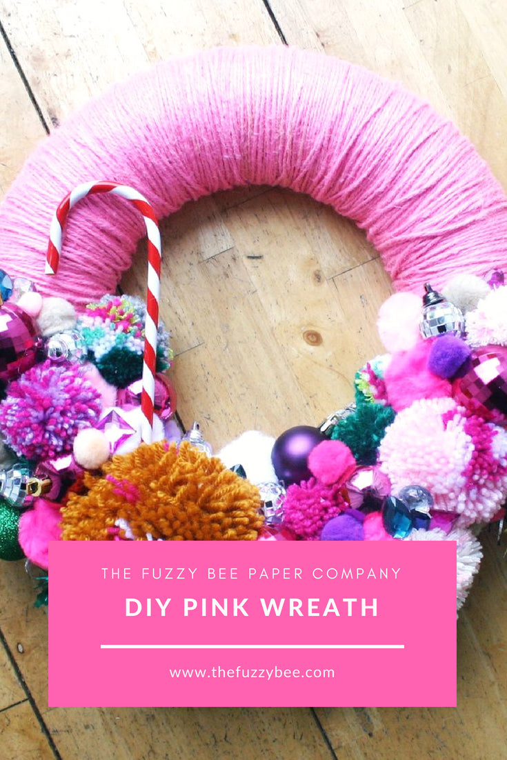 DIY Pink Wreath